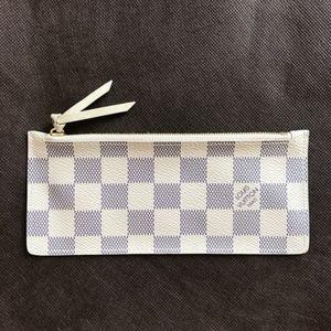 Louis Vuitton Zippered Pouch Wallet Damier Azur